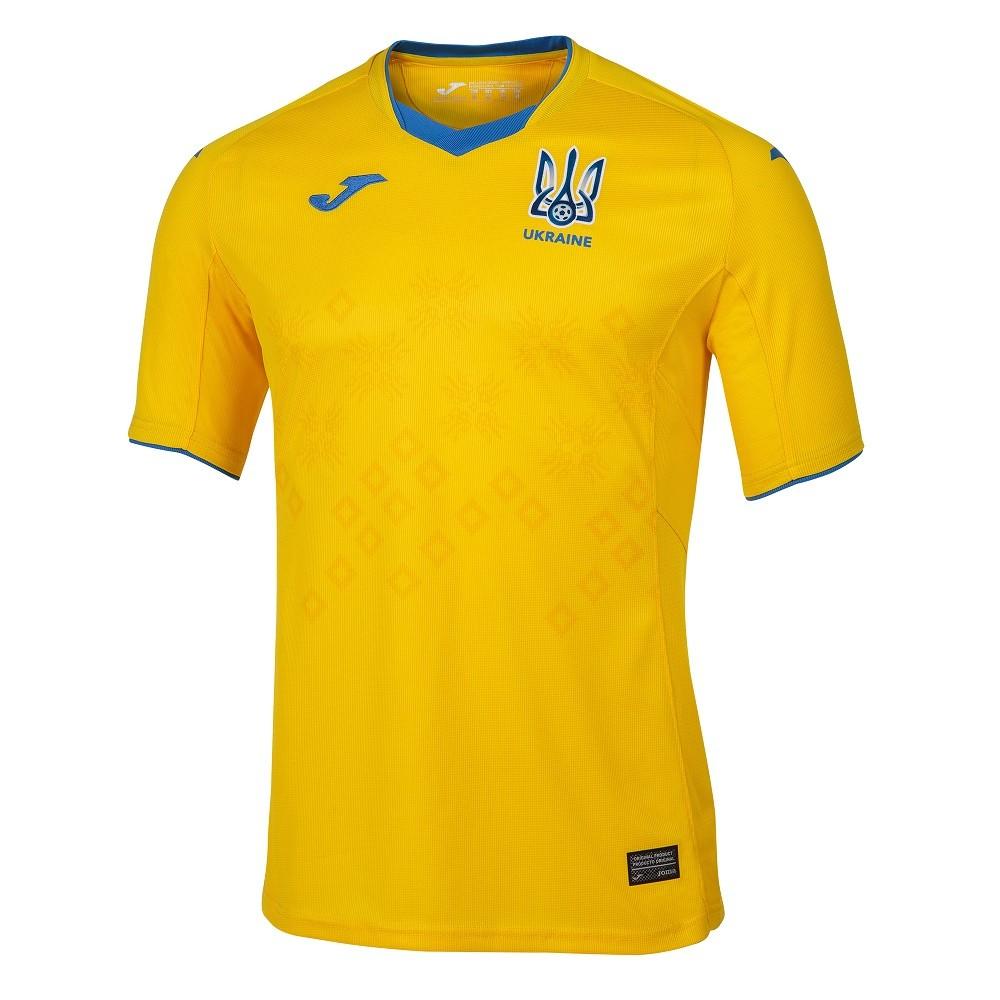Camisa Ucrânia Joma Home 20/21 Masculino Amarelo