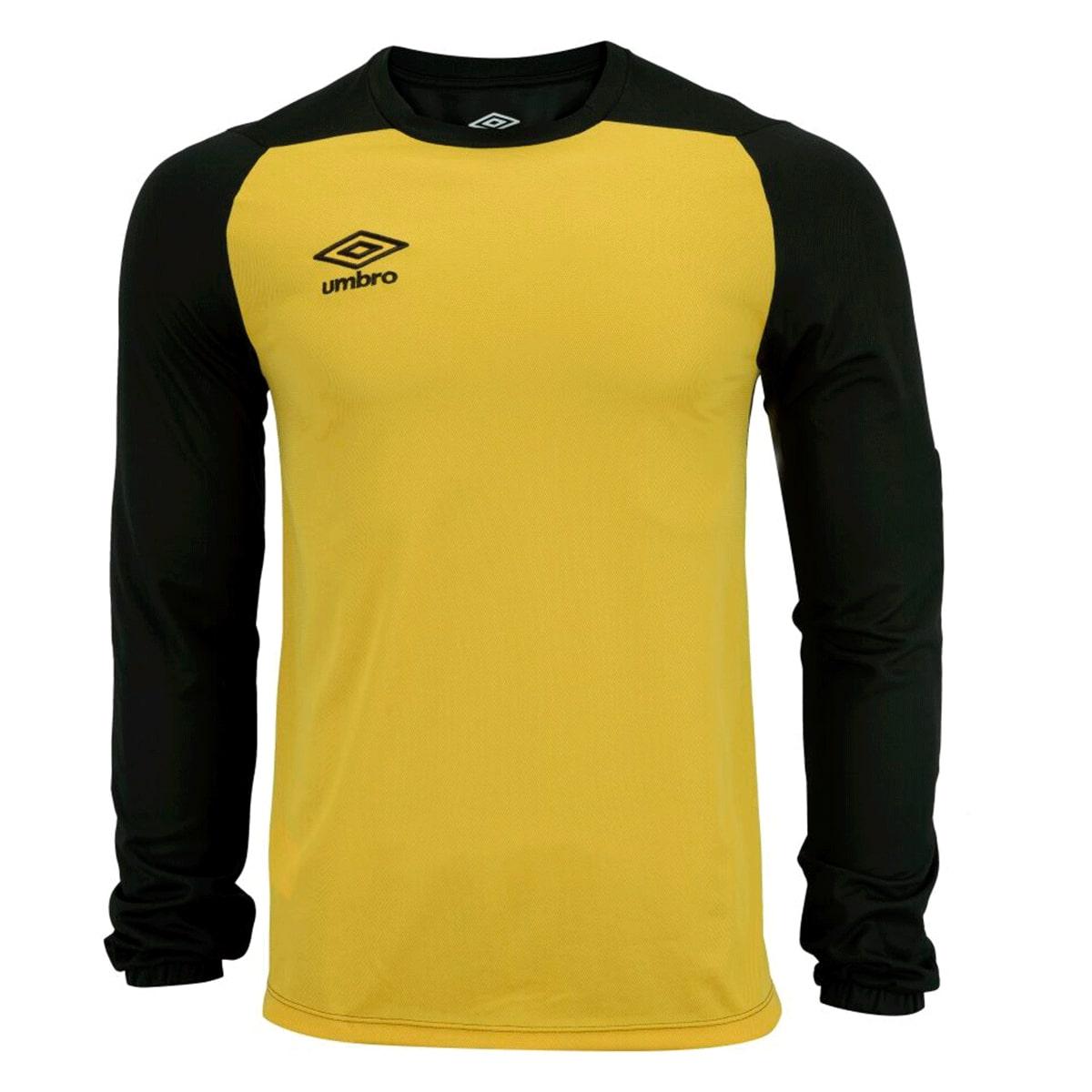 Camisa Umbro Goleiro ML Blast Amarelo Preto