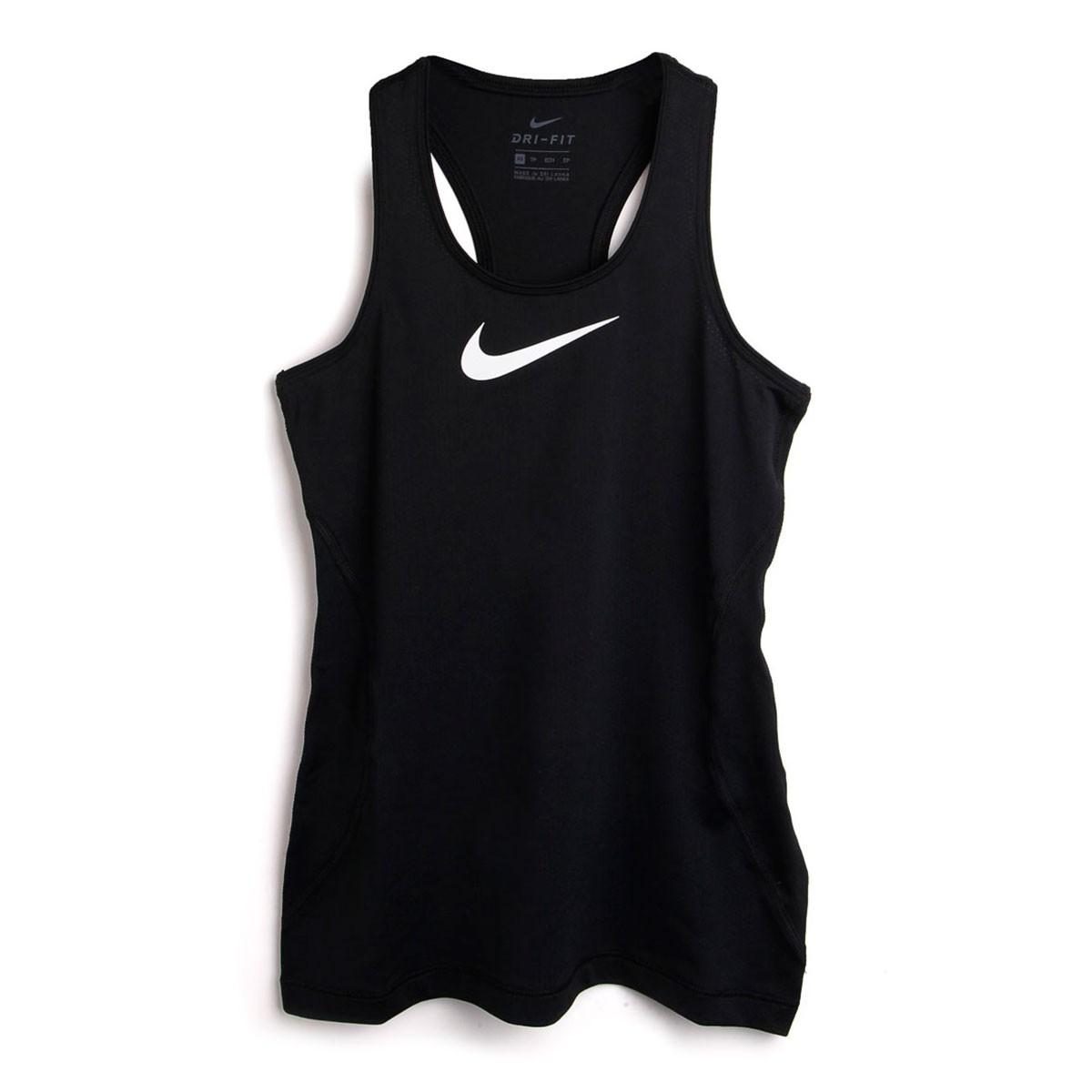 Camise Nike Sem Manga Tight Fit Feminino Infantil - Preta