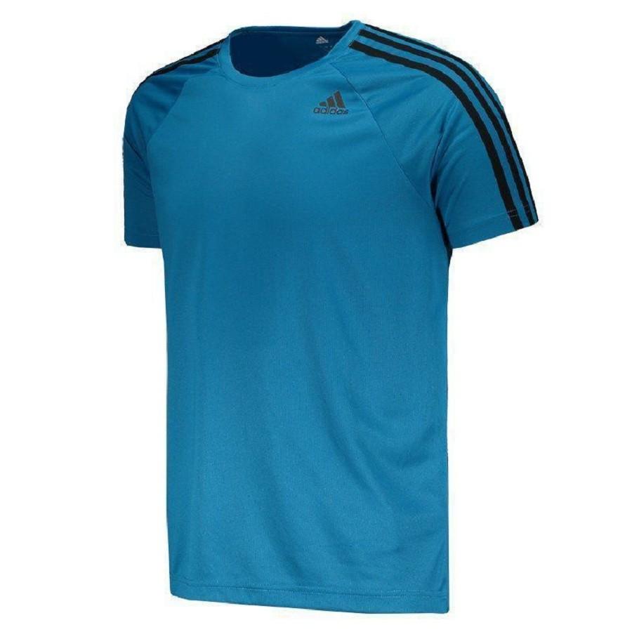 Camiseta Adidas D2M 3S Feminino Azul
