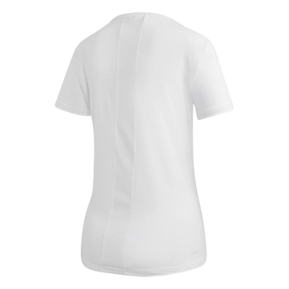 Camiseta Adidas D2M Solid Tela Feminino Branco
