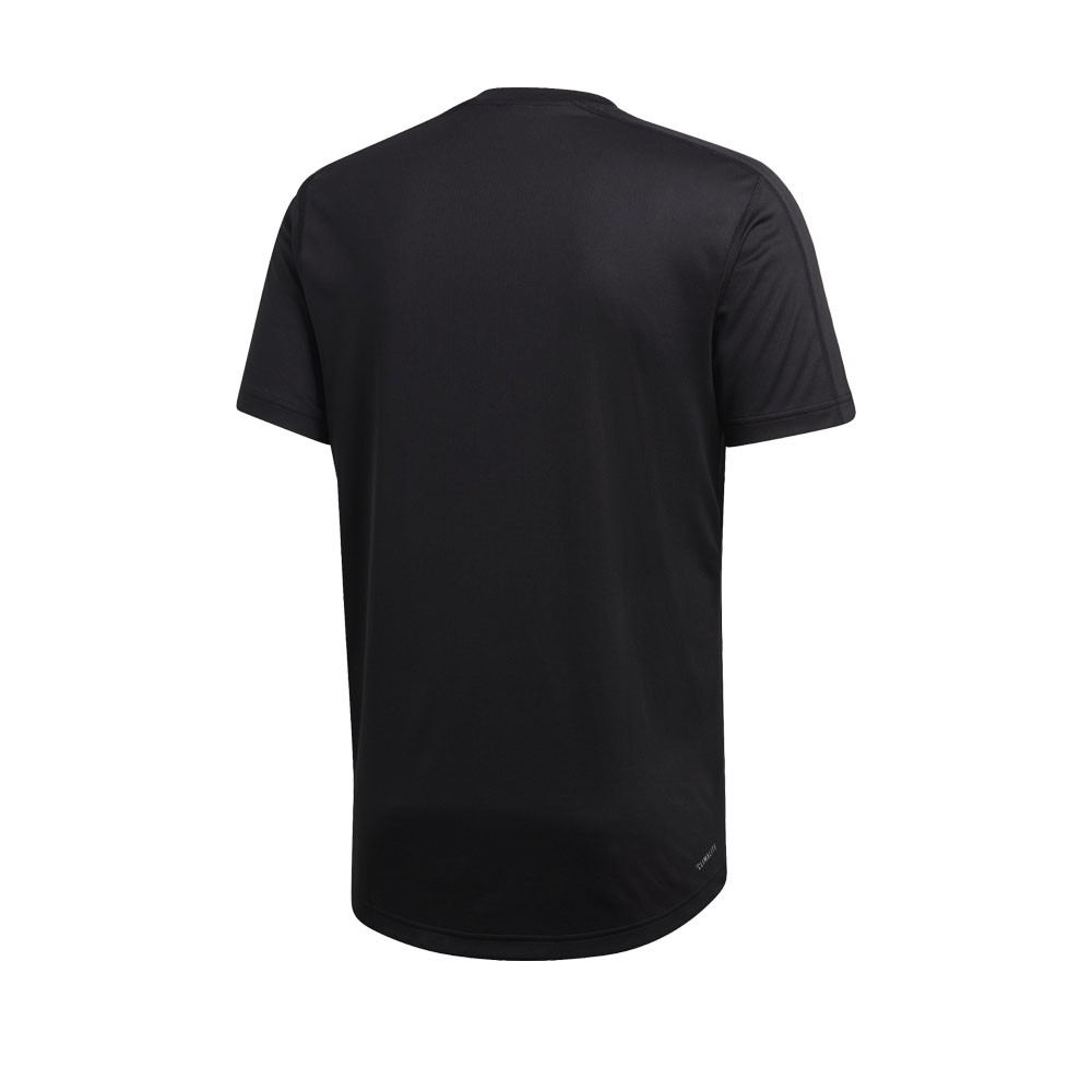 Camiseta Adidas Design 2 Move 3 Stripes Masculino Preto