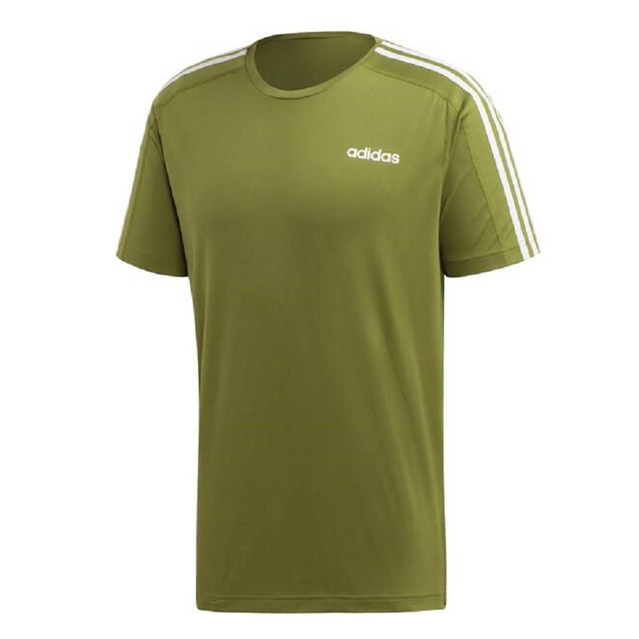 Camiseta Adidas Design 2 Move 3 Stripes Masculina Verde