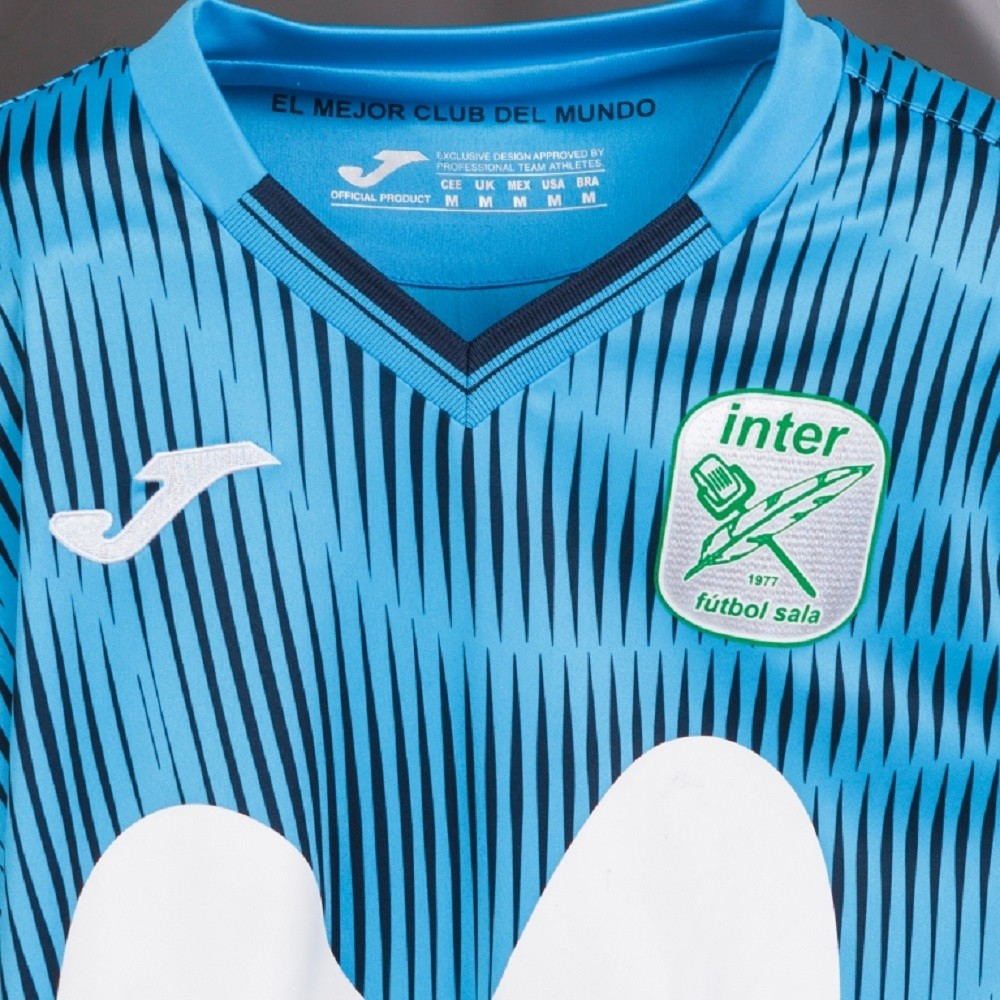 Camiseta Inter Movistar Futsal Home Masculino Turquesa