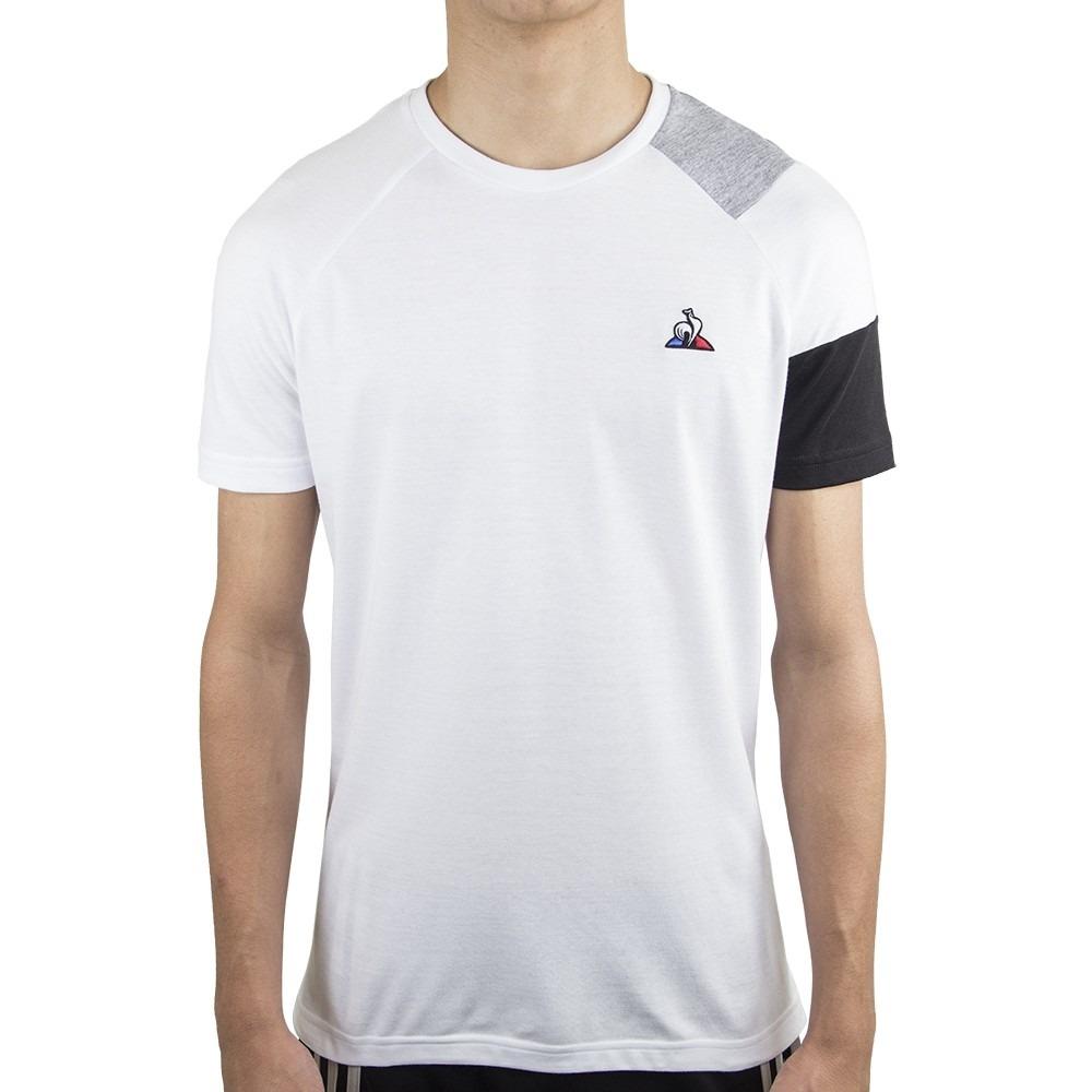 Camiseta Le Coq Sportif Bar a Tee Ess Tee SS N°10 Branca Cinza