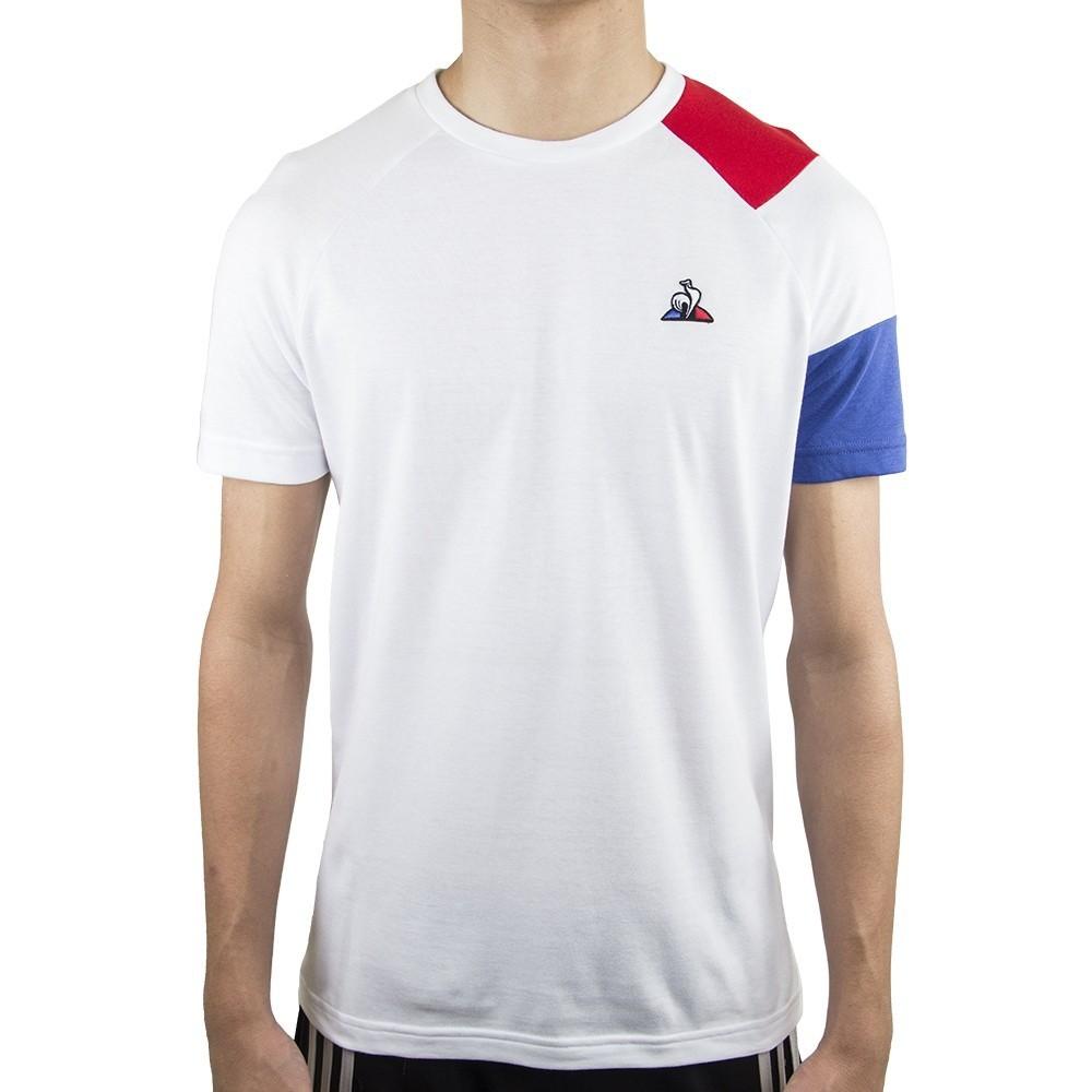 Camiseta Le Coq Sportif Bar a Tee Ess Tee SS N°10 Branca Vermelha