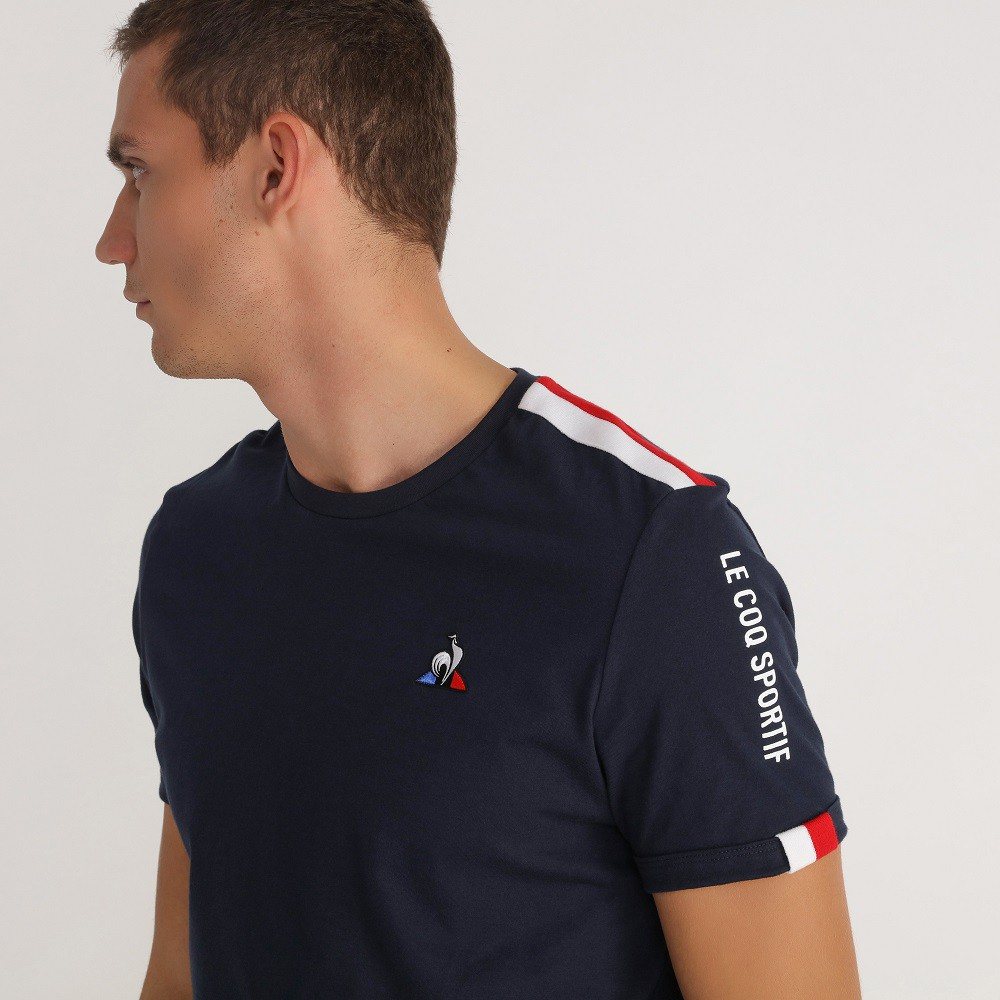 Camiseta Le CoqTri Saison Tee Ss N.3 Marinho