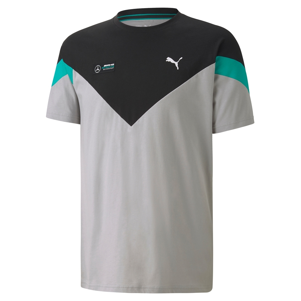 Camiseta Mercedes AMG Petronas MCS Masculino Cinza Preto