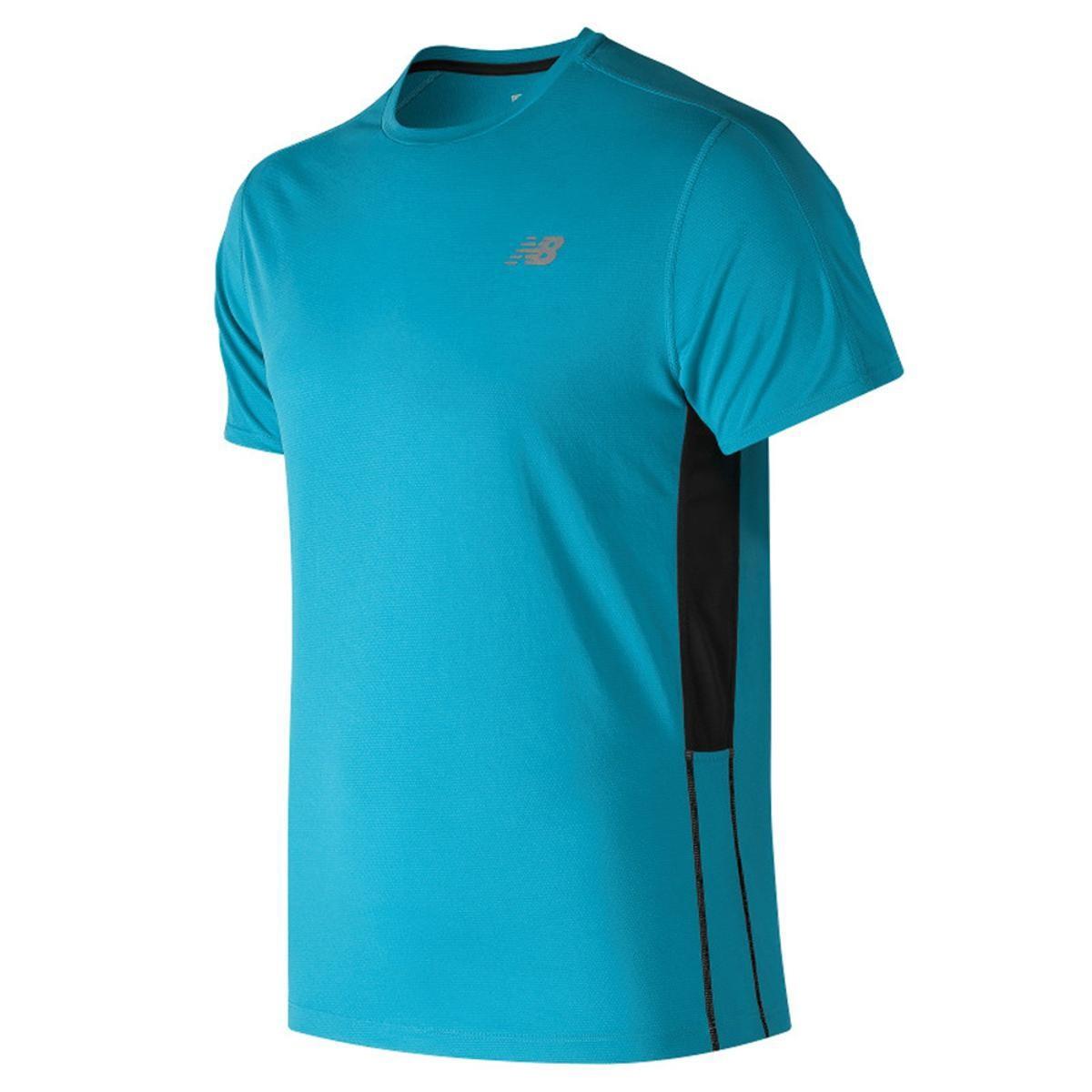 Camiseta New Balance Accelerate - Azul Claro - Masculino