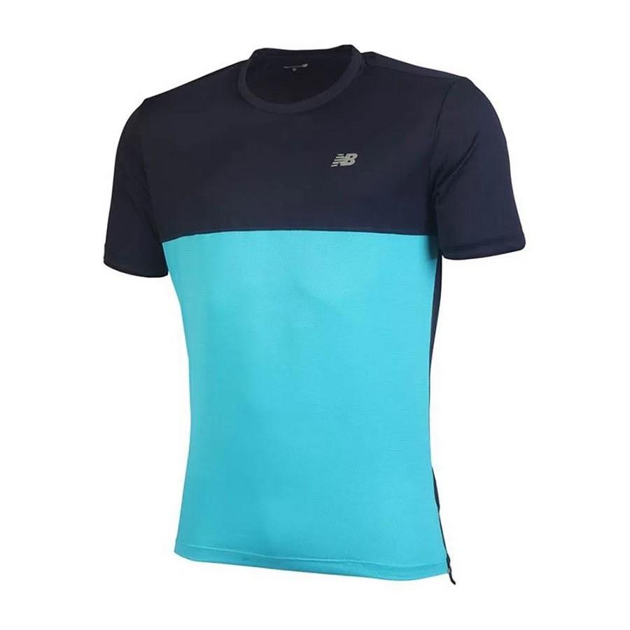 Camiseta New Balance M/C Masculino Azul Marinho