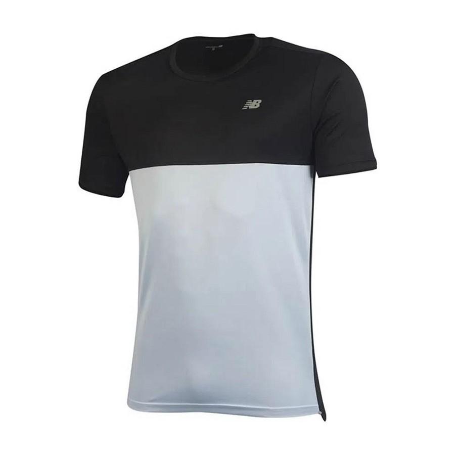 Camiseta New Balance M/C Masculino Preto Chumbo