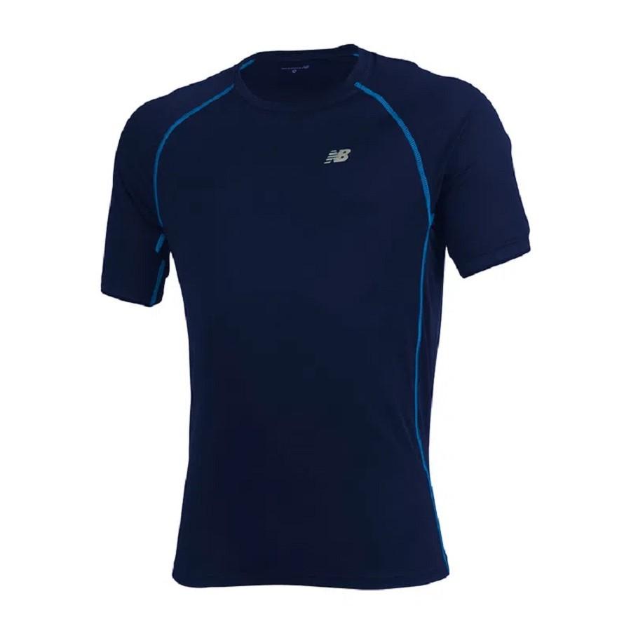 Camiseta New Balance M/C Raglan Masculino Azul