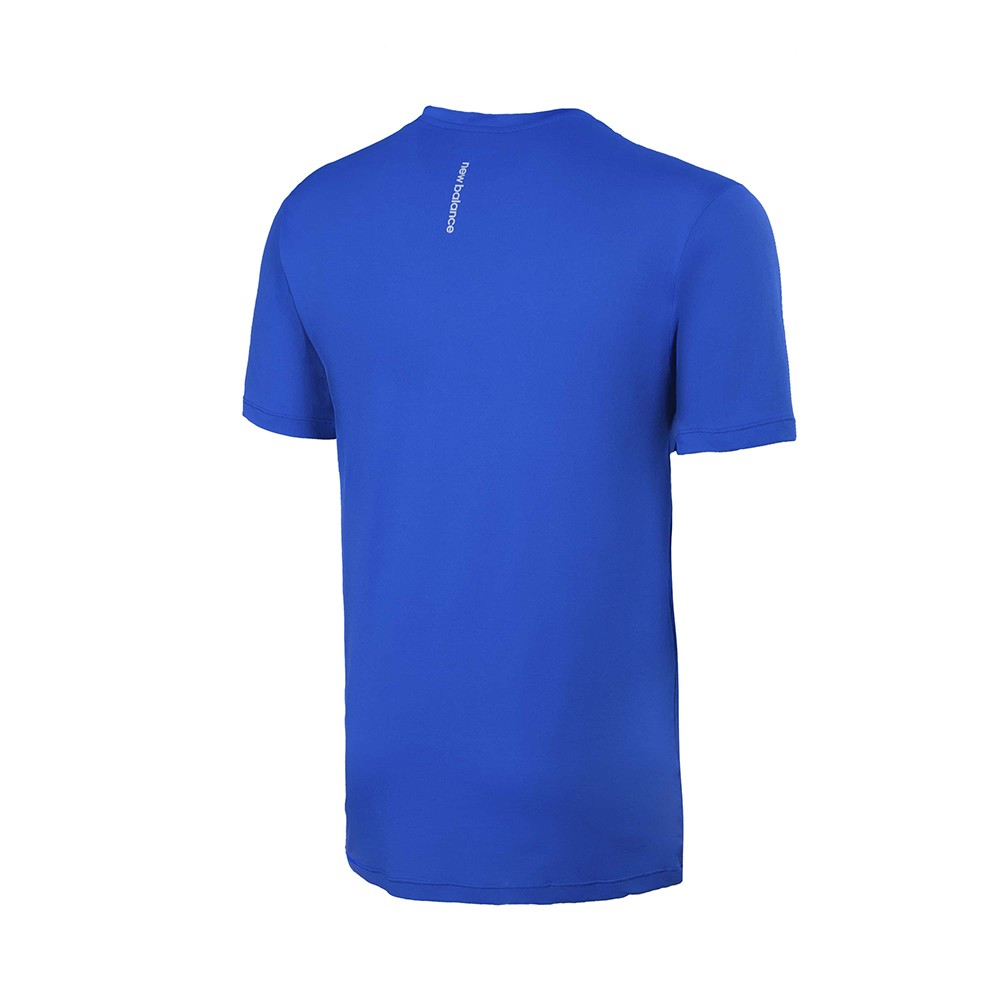 Camiseta New Balance Poliamida Performance Masculino Azul