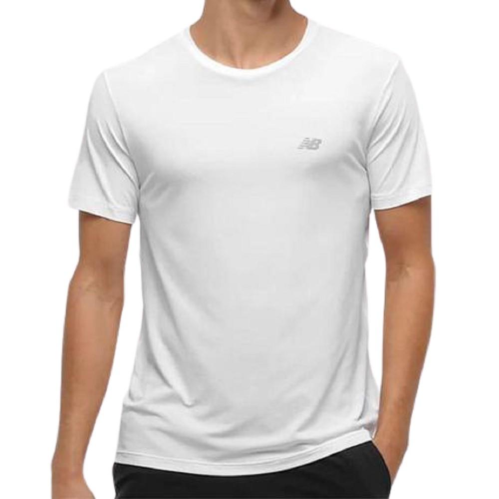 Camiseta New Balance Poliamida Performance Masculino Branco
