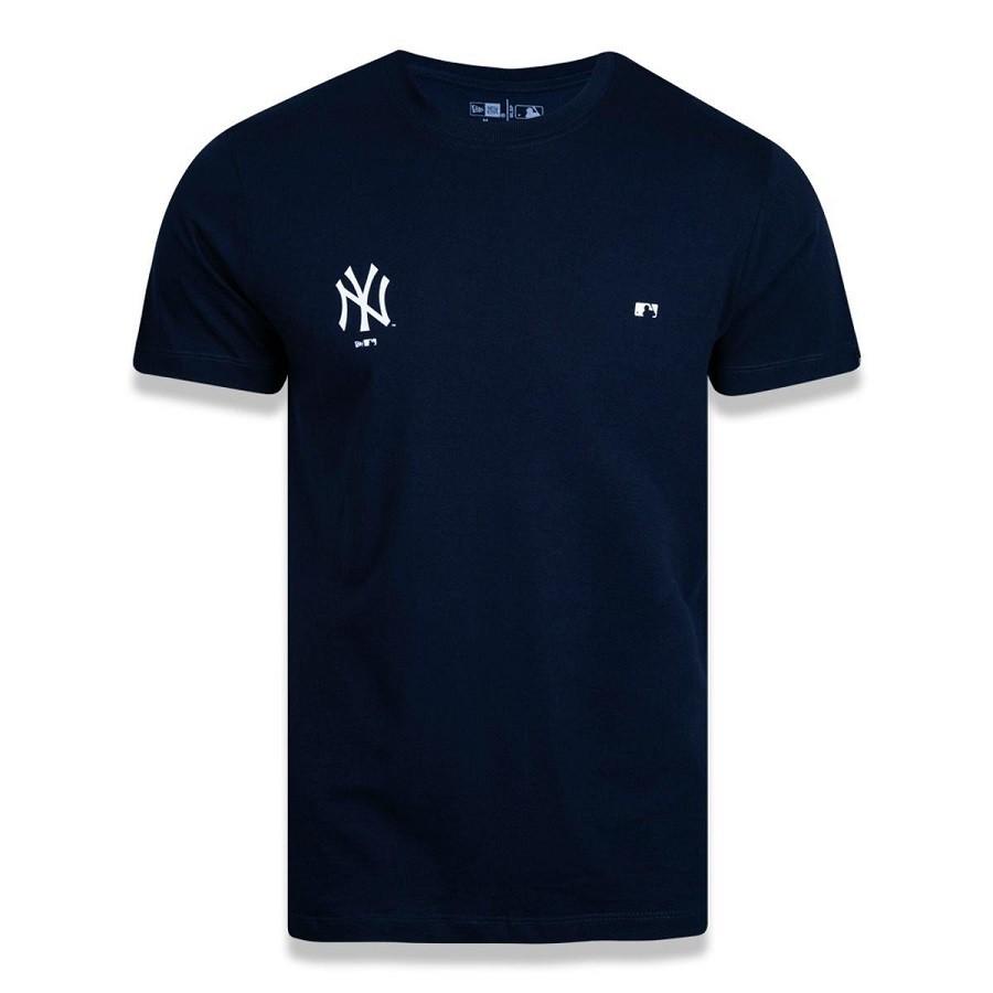 Camiseta New York Yankees Mlb Masculina Marinho New Era
