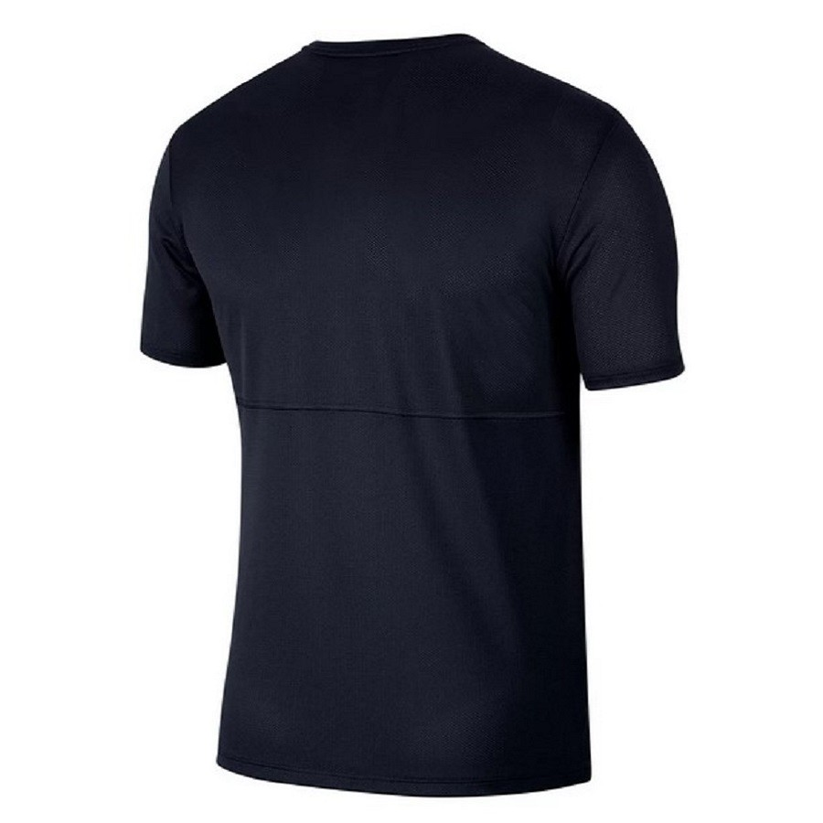 Camiseta Nike Breathe Run To Masculina Azul Marinho