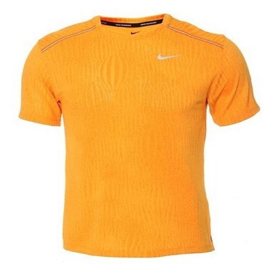 Camiseta Nike Dri-FIT Miler Masculina Laranja