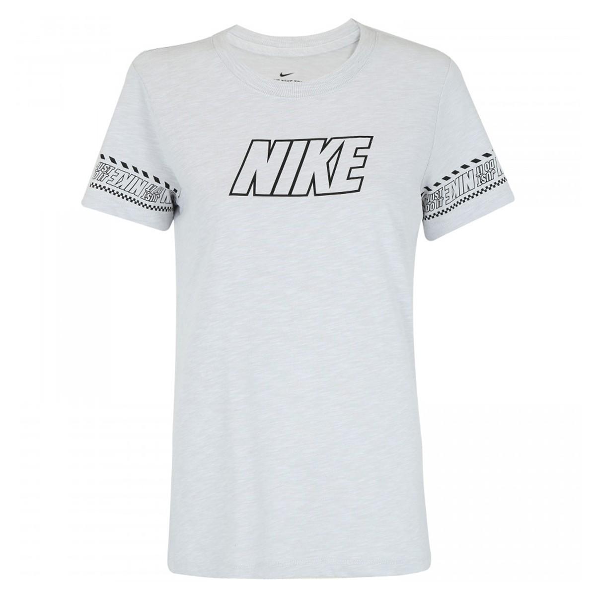 Camiseta Nike Dry DFC BR - Cinza - Feminina
