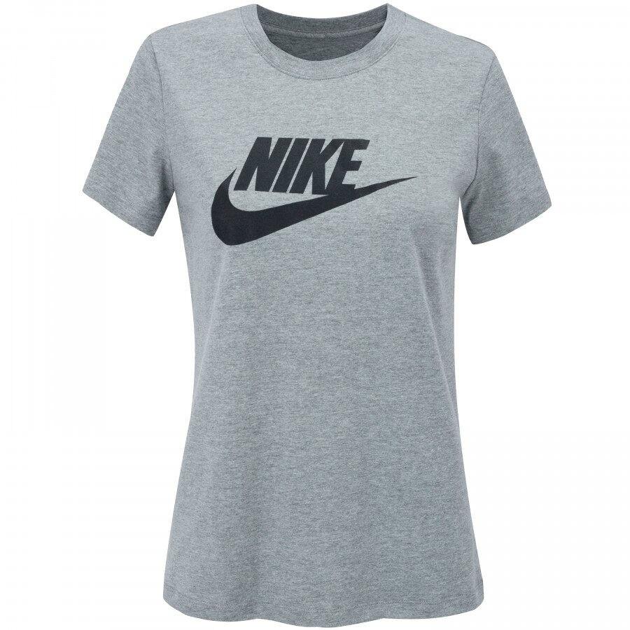 Camiseta Nike Sportswear Essential Icon Futura Feminina Cinza