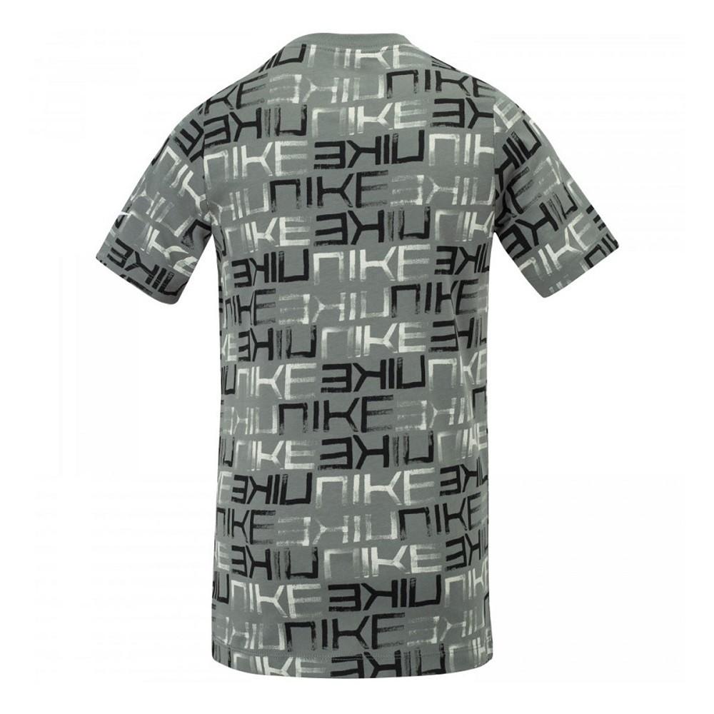 Camiseta Nike Sportswear Tee AOP Infantil Cinza