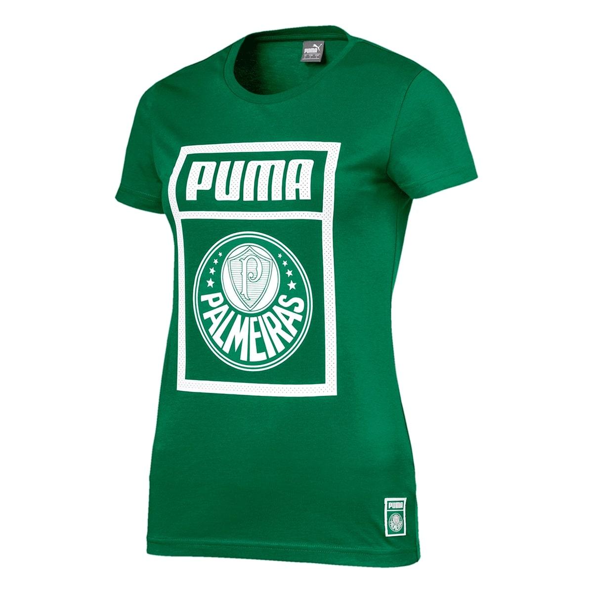 Camiseta Palmeiras Puma Graphic Feminino Verde