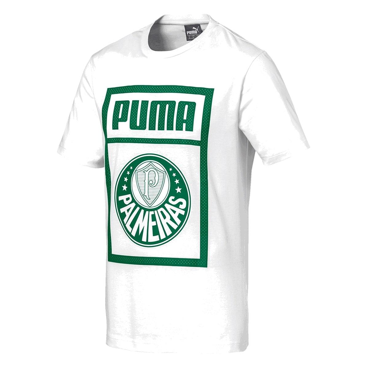 Camiseta Palmeiras Puma Graphic Masculino Branco
