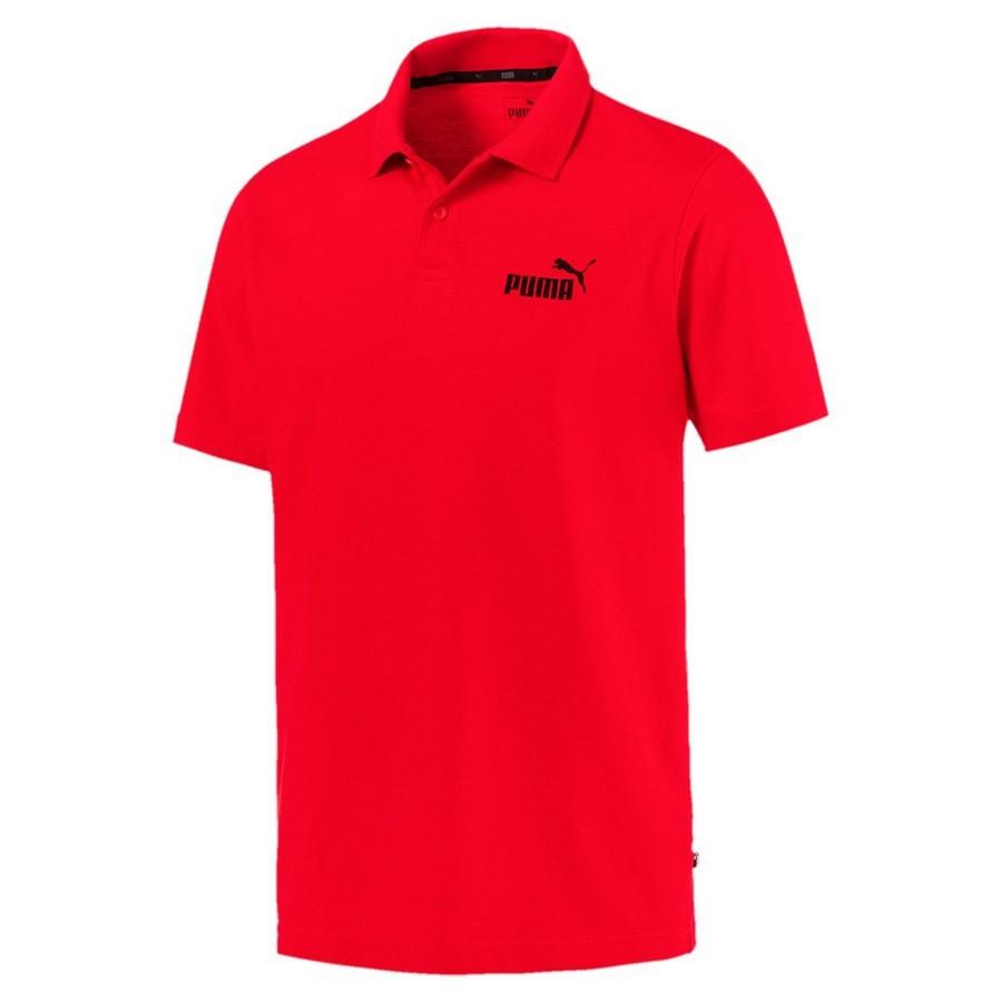 Camiseta Pólo Puma Essentials Masculino Vermelho