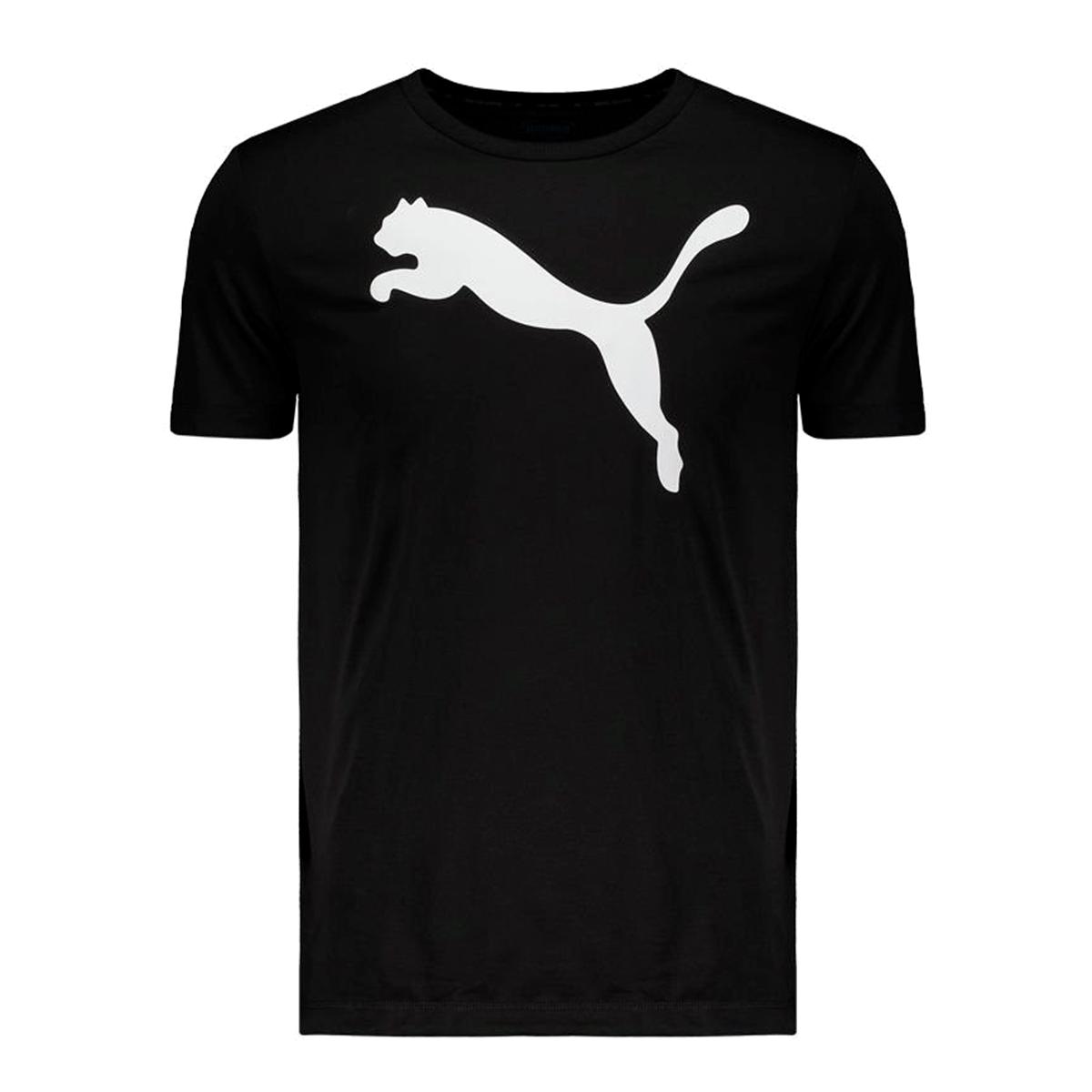 Camiseta Puma Active Big Logo Masculino Preto