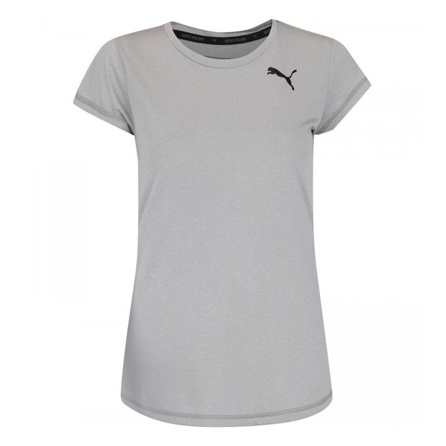 Camiseta Puma Active Feminina Cinza
