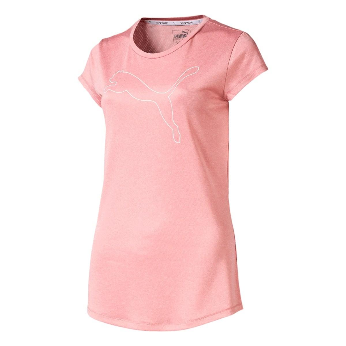 Camiseta Puma Active Heather Tee Feminina Rosa