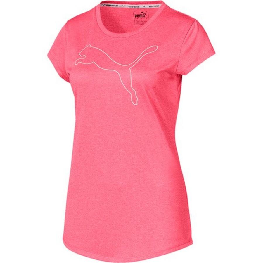 Camiseta Puma Active Heather Tee Feminino Rosa
