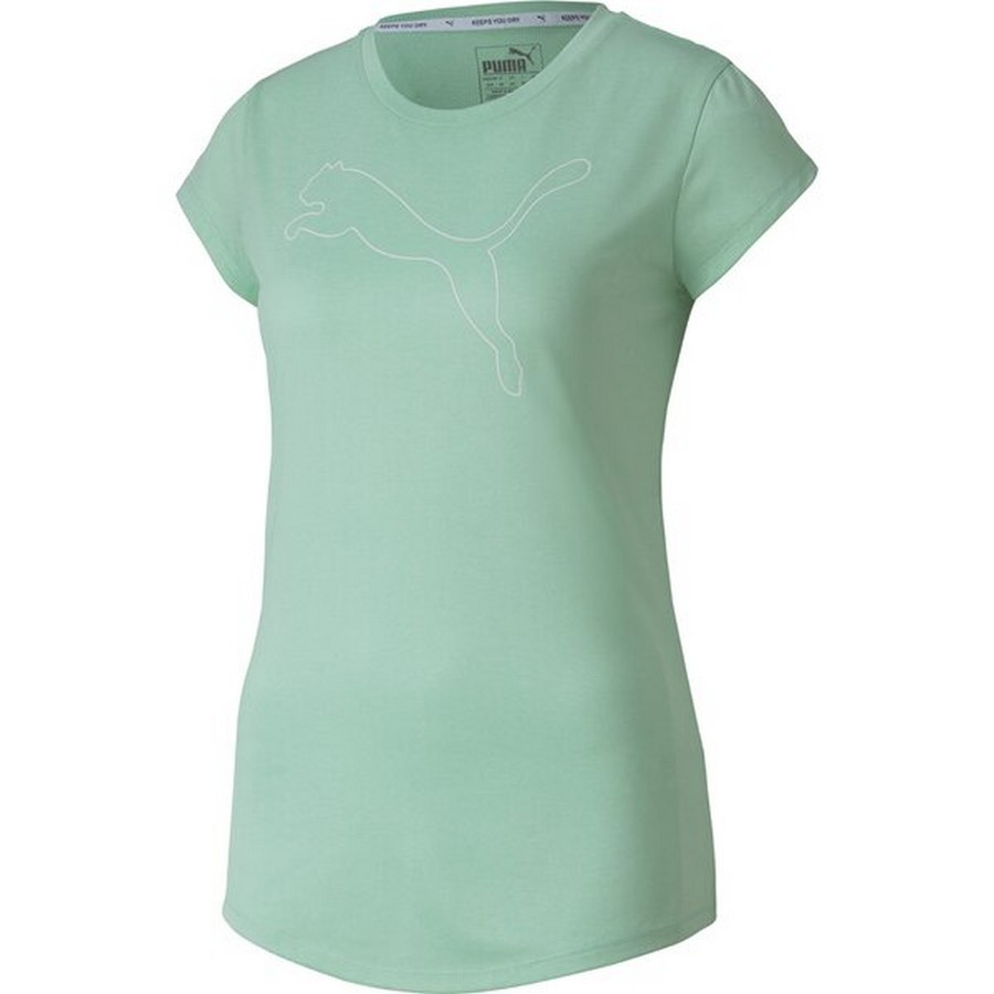 Camiseta Puma Active Heather Tee Feminino Verde