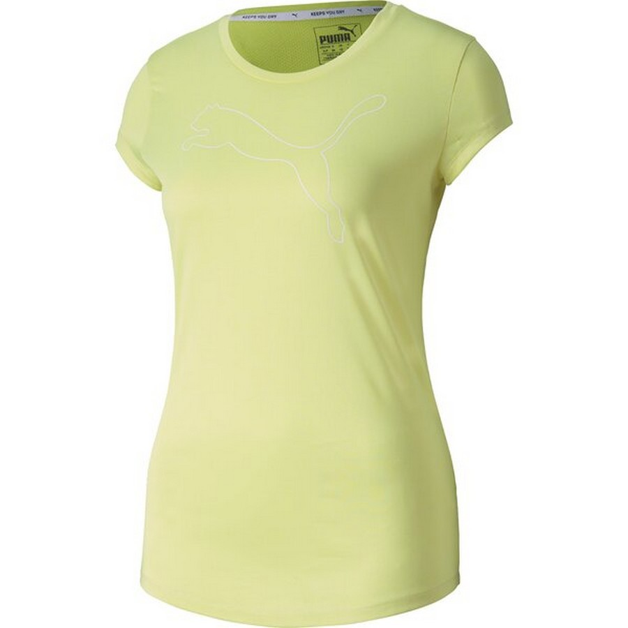 Camiseta Puma Active Heather Tee Feminino Verde Limão