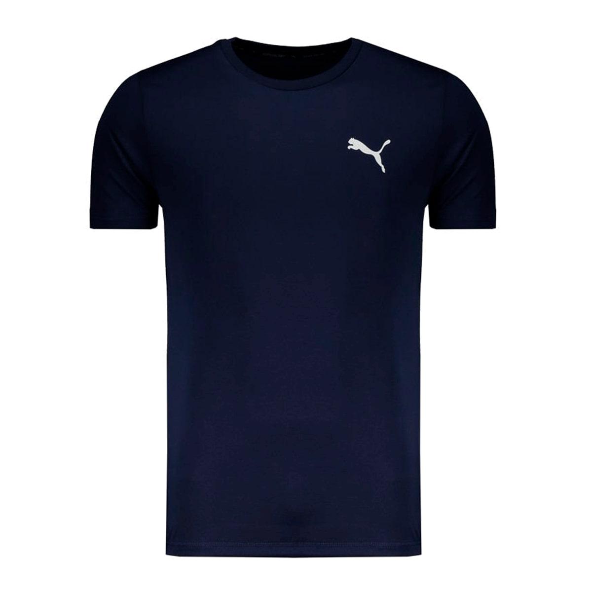 Camiseta Puma Active Tee Logo Masculino Marinho