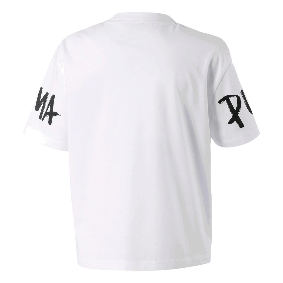 Camiseta Puma Alpha Tee Infantil Feminino Branco