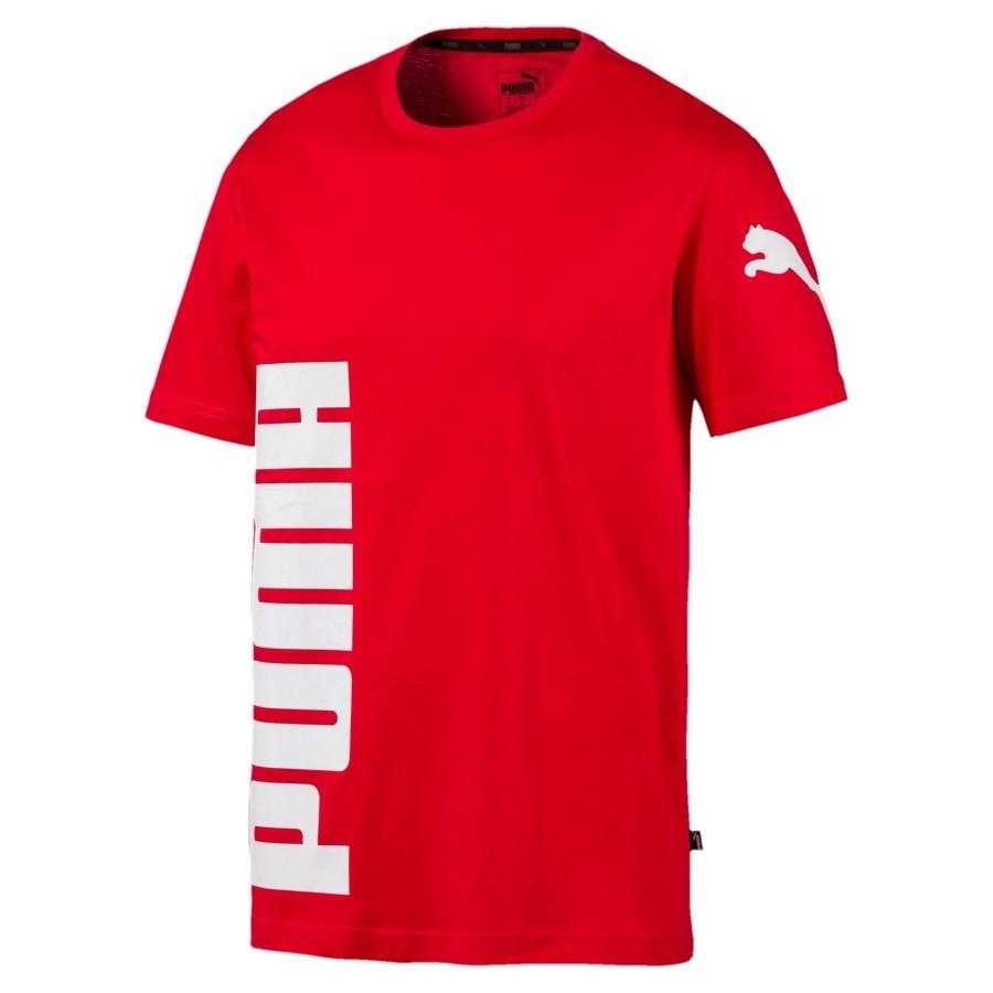 Camiseta Puma Big Logo Graphic Vermelho