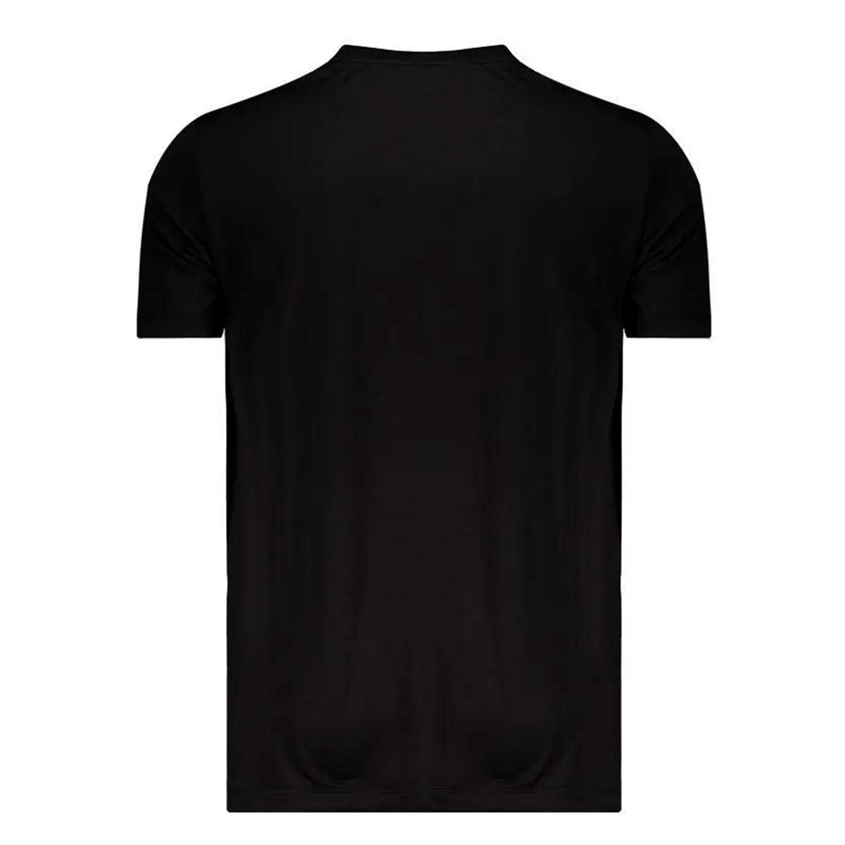 Camiseta Puma Ess Active Big Logo Masculina - Preto