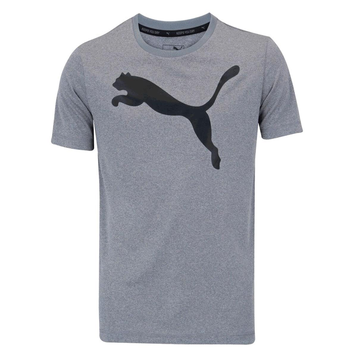 Camiseta Puma Ess Active Big Logo Masculino Cinza