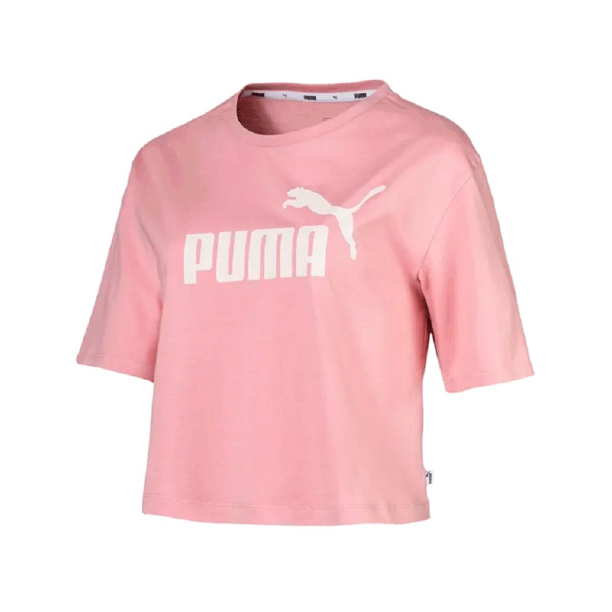 Camiseta Puma Ess Cropped Tee Bridal Feminino Rosa