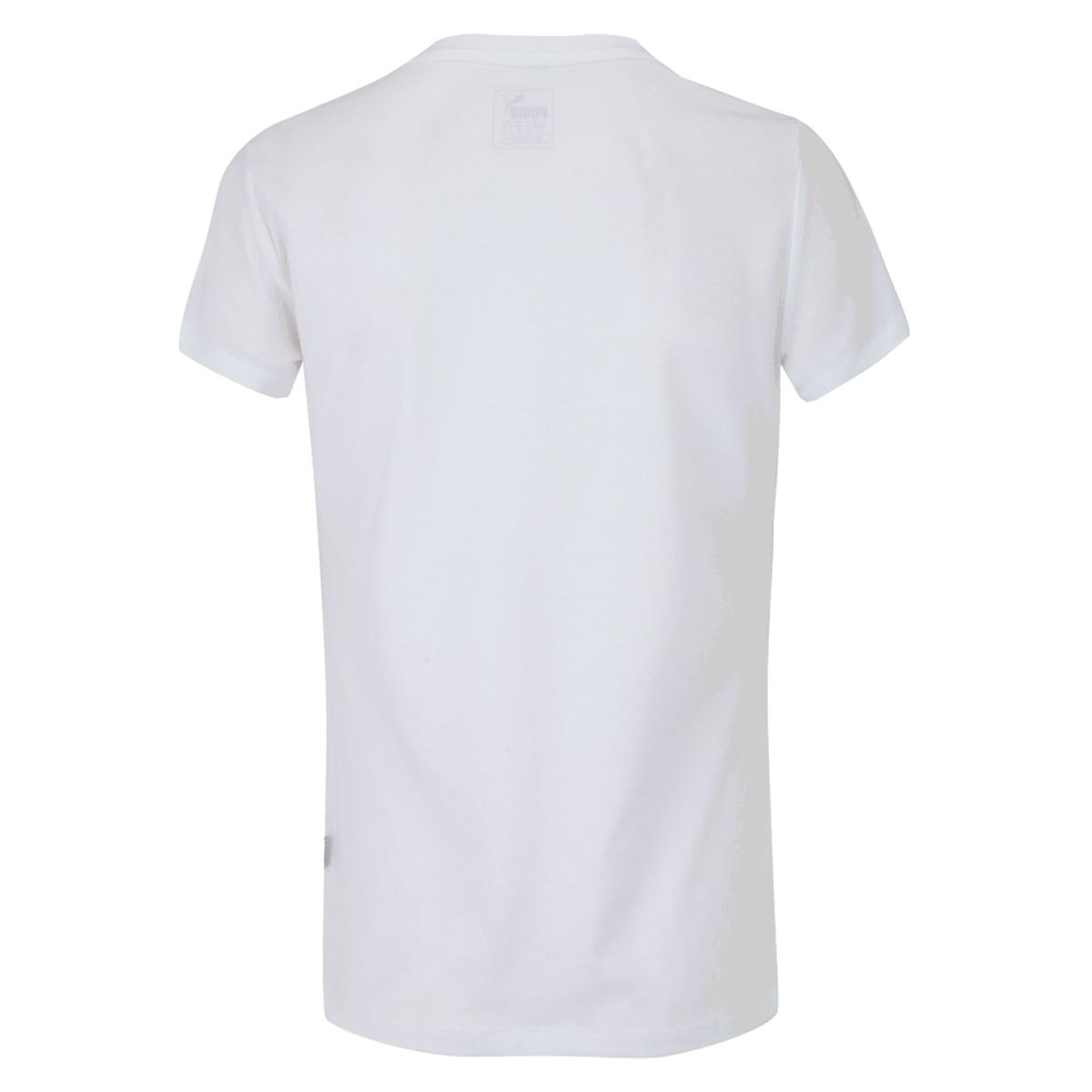 Camiseta Puma Essential Logo Tee Infantil Branco
