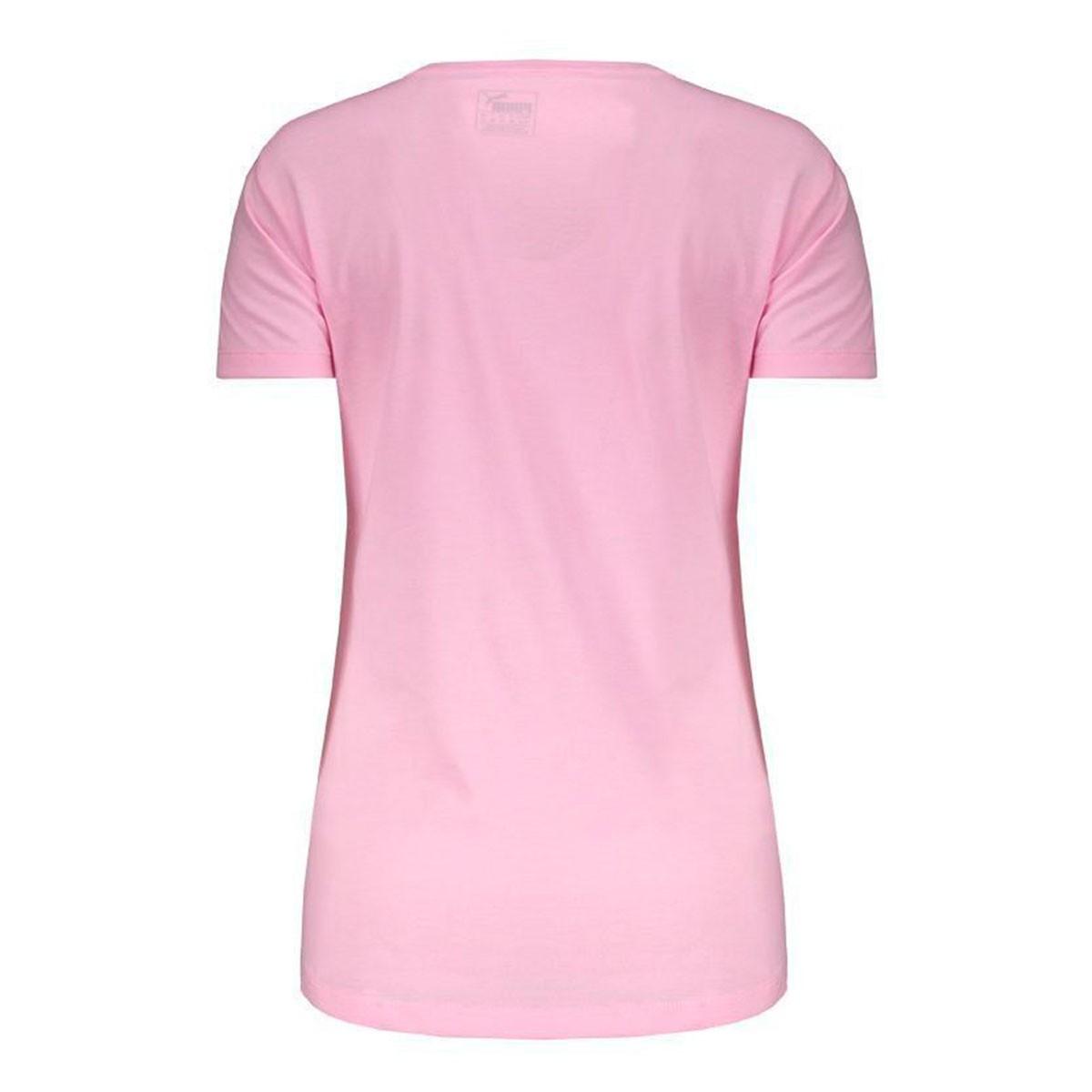 Camiseta Puma Essentials heather tee Feminino - Rosa