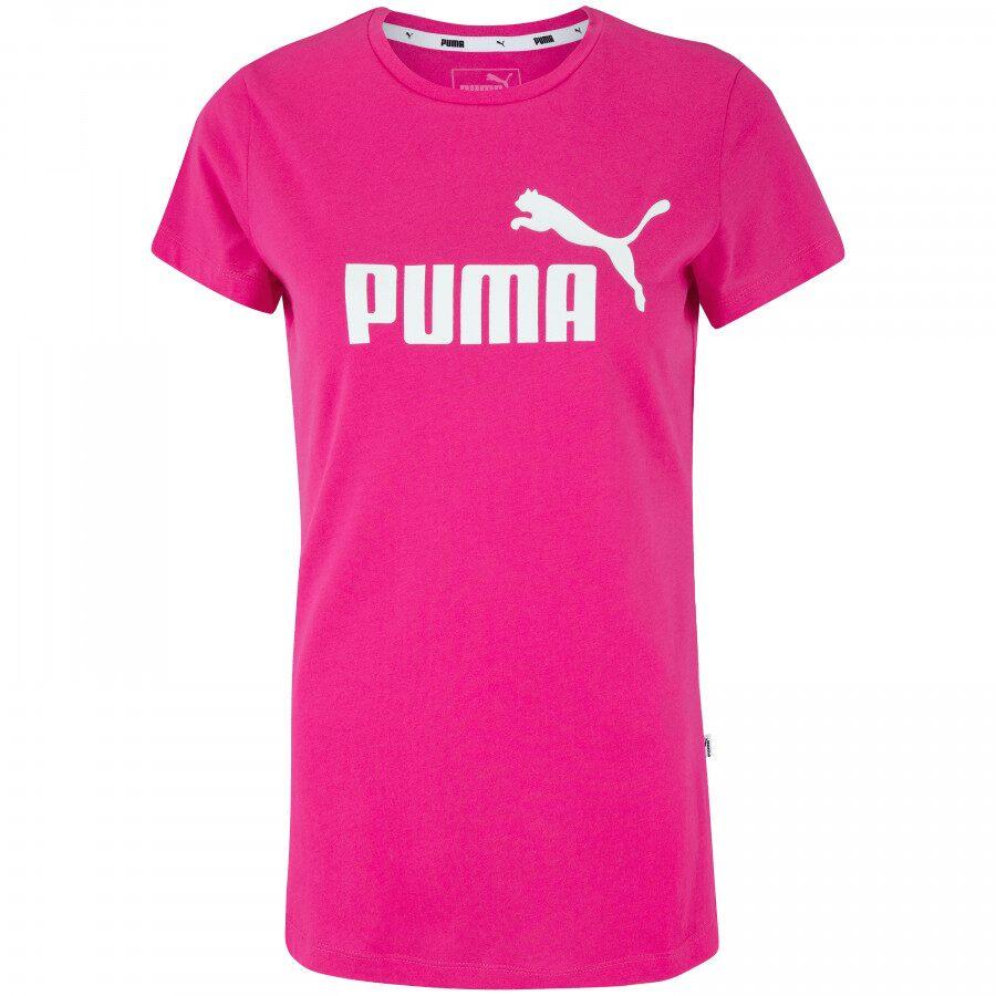 Camiseta Puma Essentials Heather Tee Feminino Rosa Pink