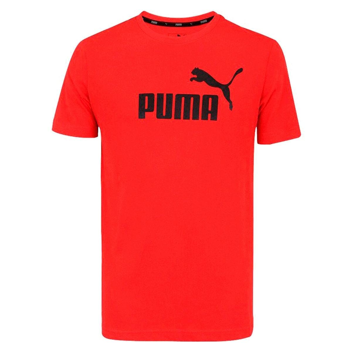 Camiseta Puma Essentials Logo Masculino Vermelho