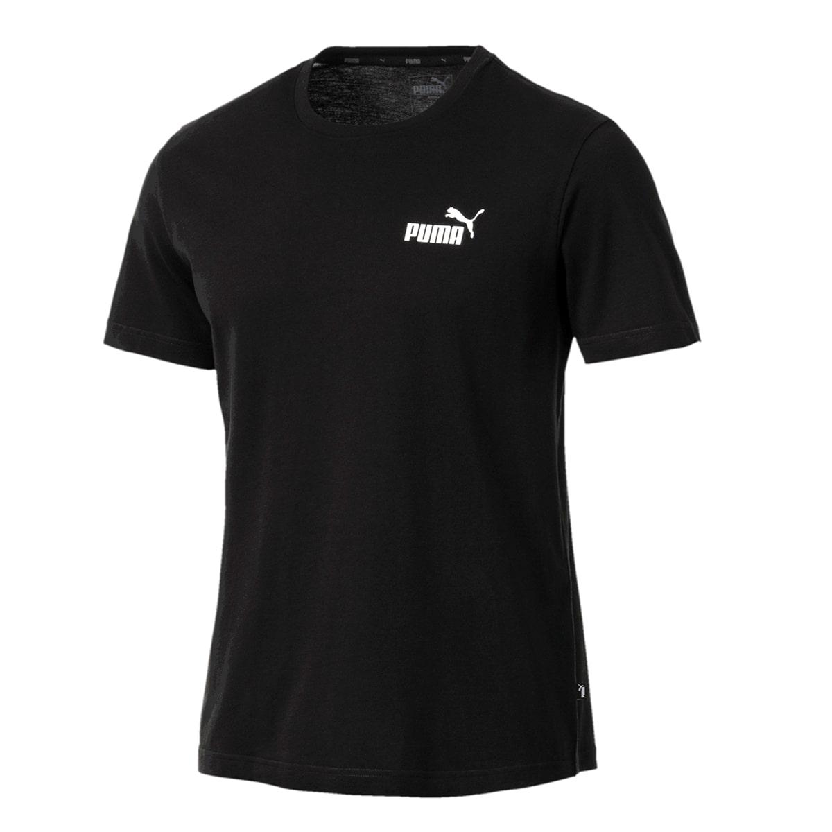 Camiseta Puma Essentials Small Logo Masculino Preto