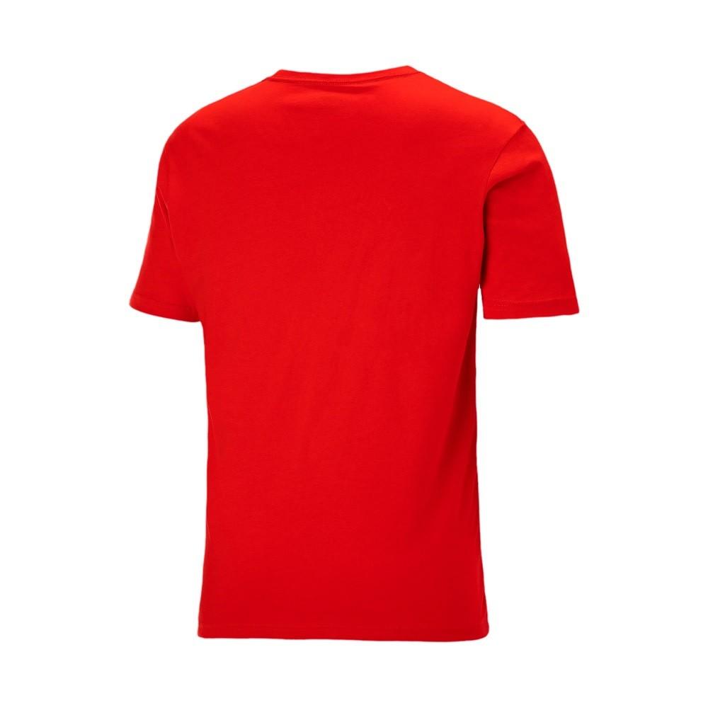 Camiseta Puma Essentials Small Logo Masculino Vermelho