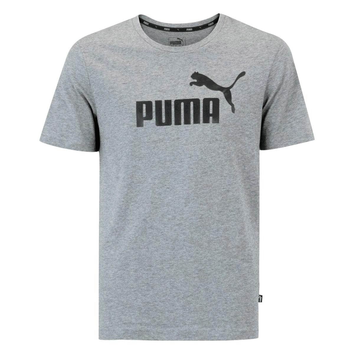 Camiseta Puma Essentials Tee Medium Masculino Cinza