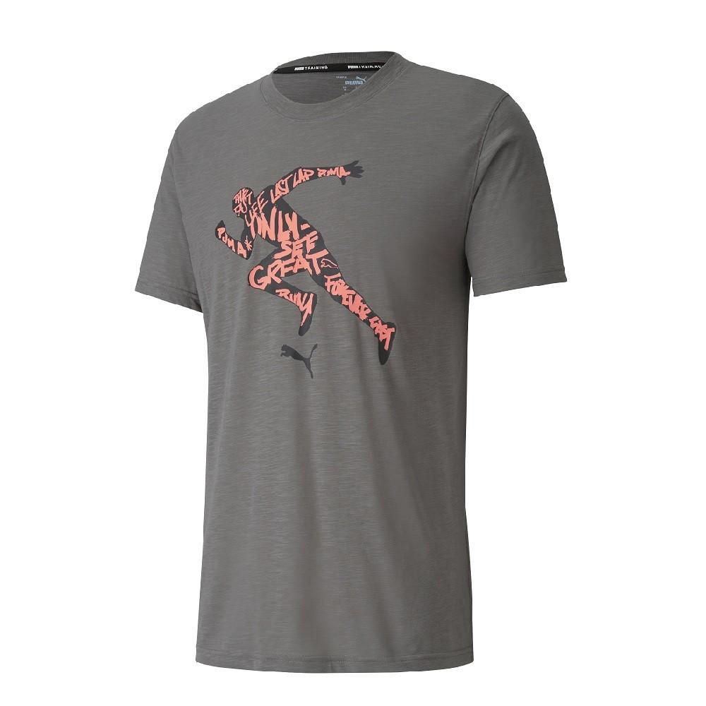 Camiseta Puma Graphic Tee Masculino Cinza