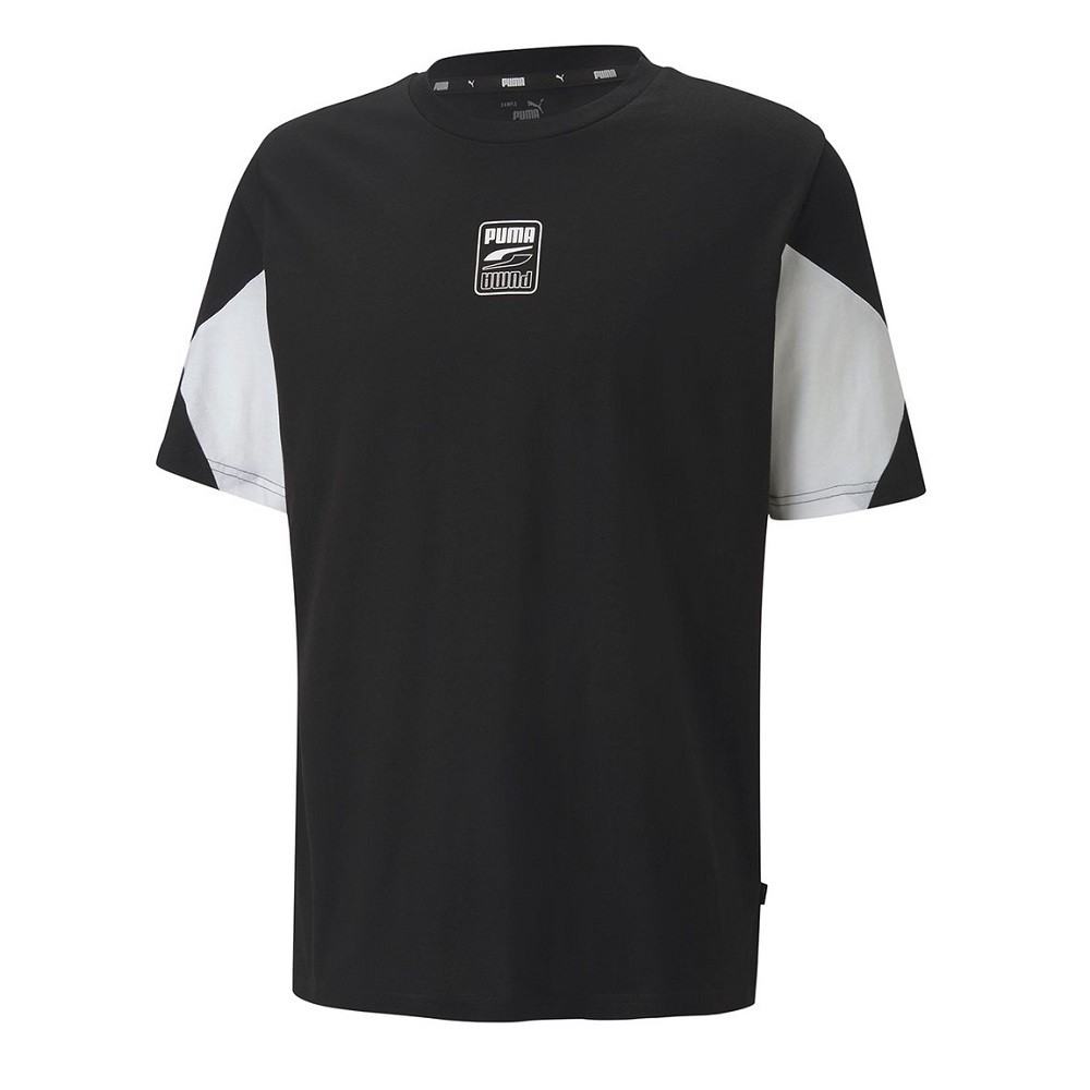 Camiseta Puma Rebel Advanced Masculino Preto e Branco