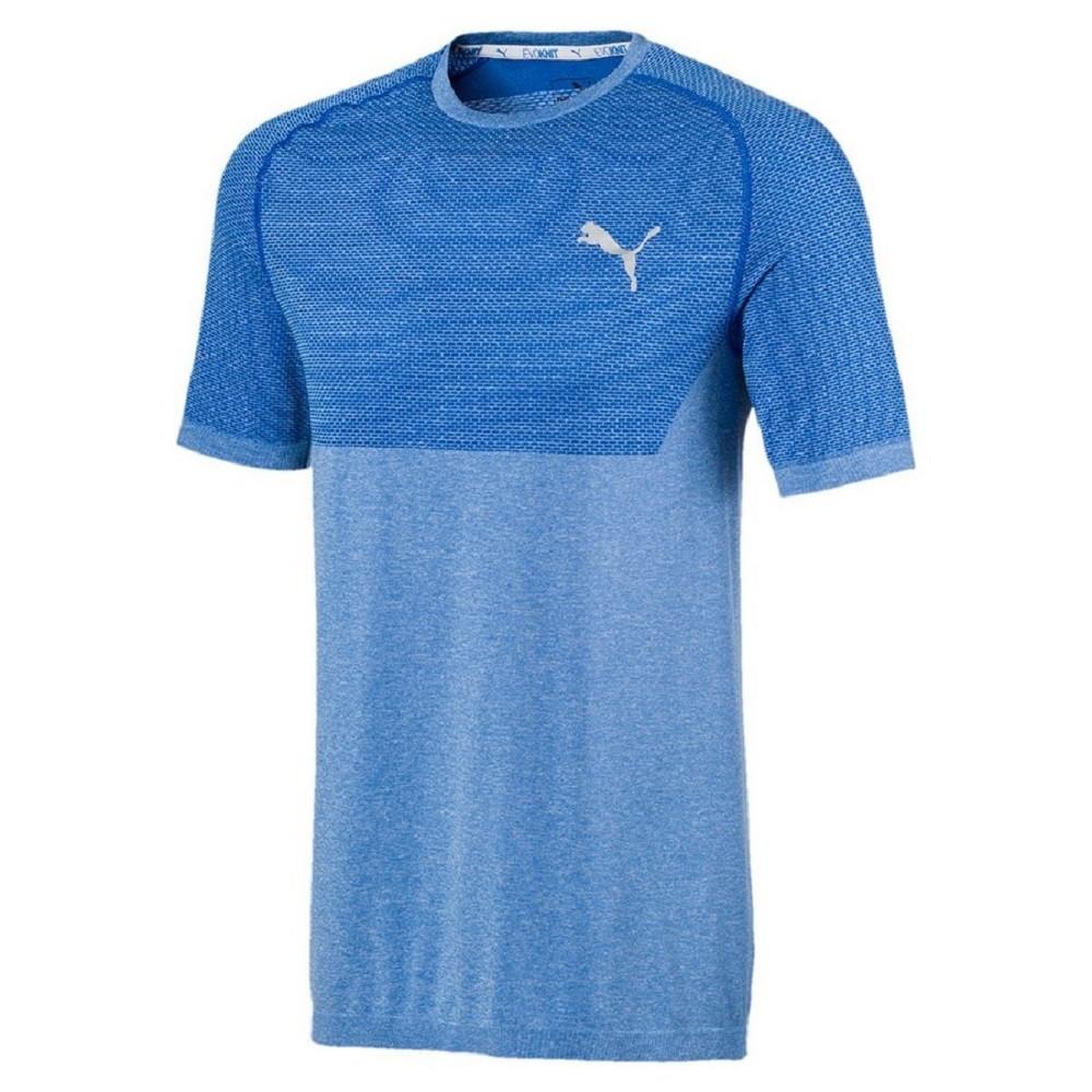 Camiseta Puma RTG Evoknit Basic Tee Masculino Azul