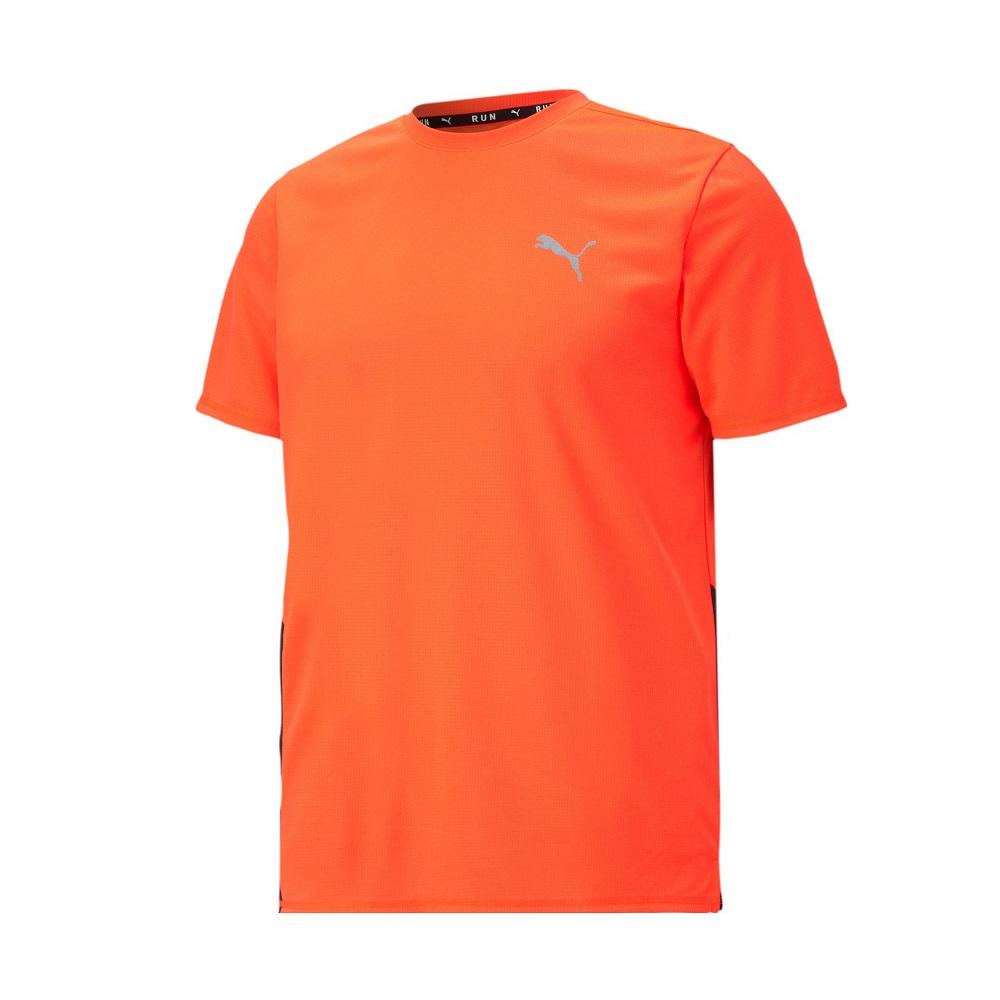 Camiseta Puma Run Lava Blast Masculino Laranja